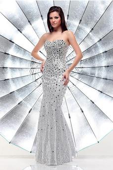 Robe de bal Manquant Bustier Zip Pailleté Étoilé Fourreau