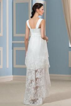 Robe de mariée Asymétrique Dentelle Asymétrique Couvert de Dentelle