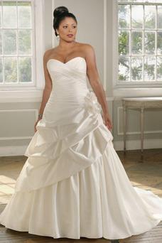 Robe de mariée Hiver Mode de Bal Taille chute Eglise Gris clair Milieu