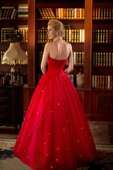 Robe de mariée Colorful Lacet Col en Cœur Printemps Cristal Salle