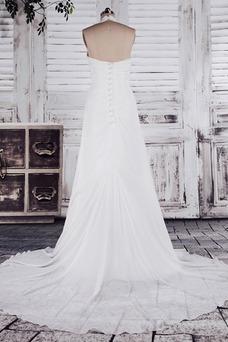 Robe de mariée Pailleté Zip Elégant Petites Tailles Taille Empire