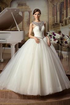 Robe de mariée Colorful Taille chute Haut Bas Col ras du Cou Tulle