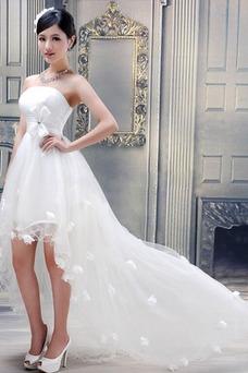 Robe de mariée Tulle Courte devant longue derriere Glamour Bustier