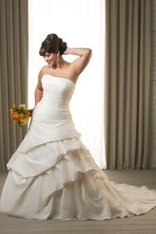 Robe de mariée Bustier Salle Lacet Formelle Traîne Mi-longue Taille Naturel