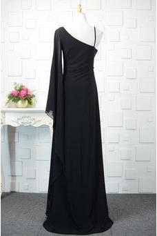 Robe de soirée Mousseline Manche Asymétrique Vintage Taille Empire