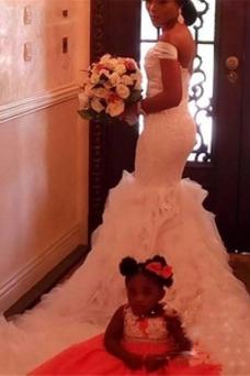 Robe de mariée Sirène Mancheron Vintage Zip Organza Manquant