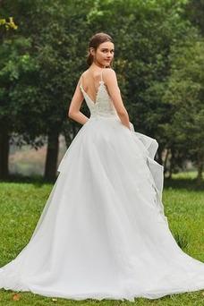 Robe de mariée Printemps Sans Manches Dos nu Manquant De plein air