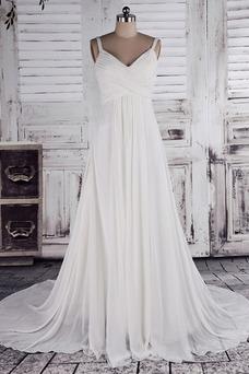 Robe de mariée Printemps Bretelles Spaghetti Empire Taille Empire