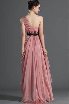 Robe de soirée Plissé Perle rose Elégant Petites Tailles Couvert de Tulle