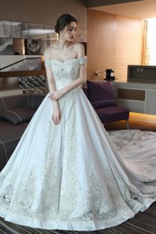 Robe de mariée Taille Naturel Mancheron A-ligne Hiver Trou De Serrure