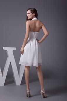 Robe de bal Sans Manches Cristal A-ligne Mousseline Courte Taille Naturel