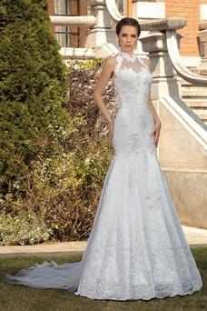 Robe de mariée Modeste Printemps Taille Naturel Tulle Sans Manches
