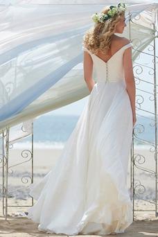 Robe de mariée Romantique Bouton Taille Naturel Printemps A-ligne