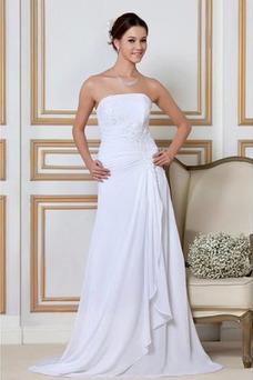 Robe de mariée Dos nu De plein air Simple Sans Manches Bustier A-ligne