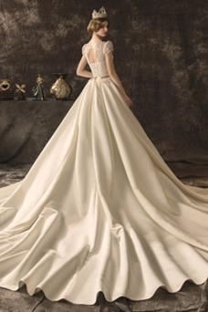 Robe de mariée De plein air Manquant Couvert de Dentelle Taille Naturel