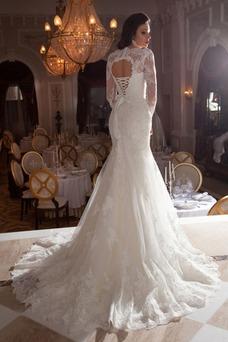 Robe de mariée Sirène De plein air Longue Manche Longue Manche Aérienne