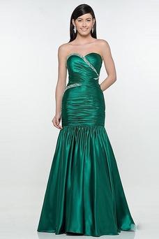 Robe de soirée Jade Col en Cœur Vintage Mince Milieu Hiver
