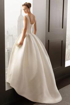 Robe de mariée Longueur ras du Sol Taille Naturel Eglise Formelle