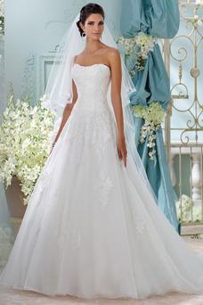 Robe de mariée Tissu Dentelle Automne Avec voile Formelle Appliques