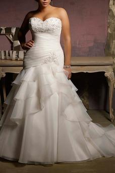 Robe de mariée Colorful Longue Salle Col en Cœur Lacet Gradins