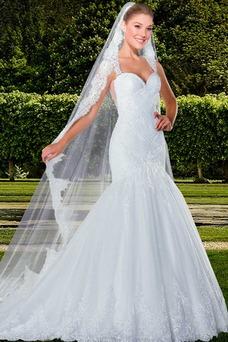 Robe de mariée Tulle Ruché Longue Haute Couvert Eglise Taille Naturel