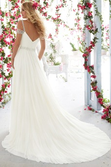 Robe de mariée Plage Tulle Simple Manche Courte Taille Naturel Zip