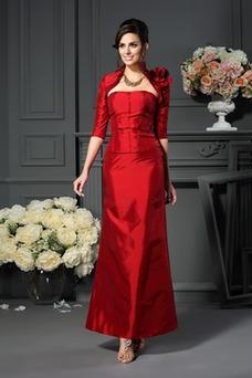 Robe mère de mariée A-ligne Poire Taille Naturel Taffetas Dos nu Orné de Rosette