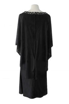 Robe mère de mariée Perle Manquant Col Bateau Longueur Cheville Automne