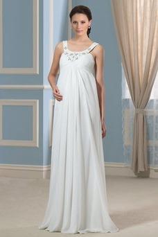 Robe de mariée Empire Sans Manches Grossesse Simple Été Taille Empire