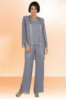 Robe mère de mariée Sablier Manche Longue Vintage Mousseline Taille Naturel