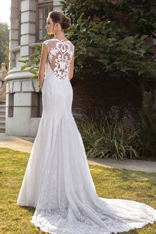 Robe de mariée Tissu Dentelle Taille Naturel Haute Couvert Sirène