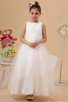 Robe cérémonie fille Princesse Haute Couvert 14 ans Ceinture en Étoffe Taille Naturel