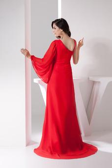Robe de soirée Printemps Haute Couvert Taille Naturel Informel Col Asymétrique