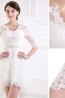 Robe de mariée Fourreau Taille Naturel De plein air Informel Col en V