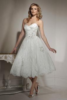Robe de mariée Cristal Longueur Mollet Col en Cœur Taille Naturel