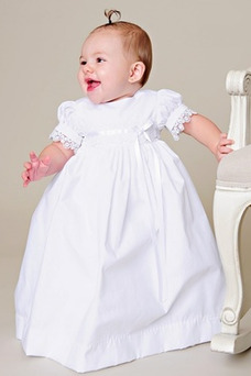 Robe cérémonie fille Princesse Longue Orné de Nœud à Boucle Tissu Dentelle