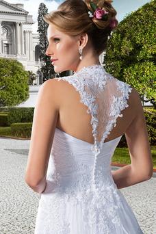 Robe de mariée Tissu Dentelle Printemps A-ligne Taille Naturel Traîne Panneau
