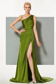Robe de soirée Épaule Asymétrique Milieu Taille Naturel Au Drapée