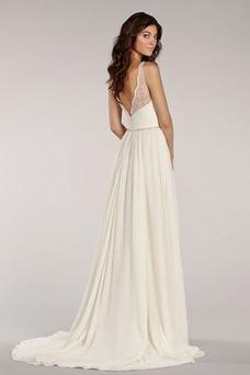Robe de mariée Dos nu Mousseline Sexy Taille Naturel Été Ouverture Frontale