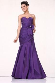 Robe de soirée Sirène Violette africaine Zip Taffetas Taille chute
