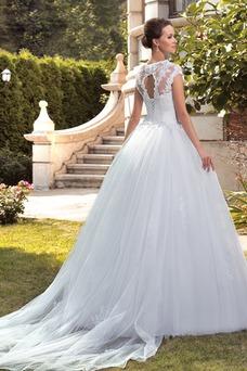 Robe de mariée Salle Traîne Mi-longue Trou De Serrure Mode de Bal
