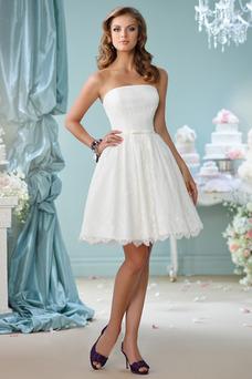 Robe de mariée Bustier De plein air Longueur Genou Informel A-ligne