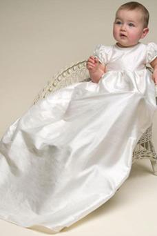 Robe cérémonie fille Printemps Manquant Empire Sage Formelle Col ras du Cou