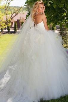 Robe de mariée Taille chute Salle Formelle Ruché Lacet Automne
