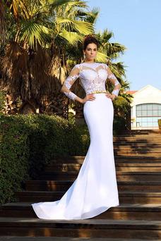 Robe de mariée Sirène Milieu Printemps De plein air Manche Aérienne