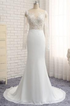 Robe de mariée Printemps Manche Aérienne Mousseline Petites Tailles