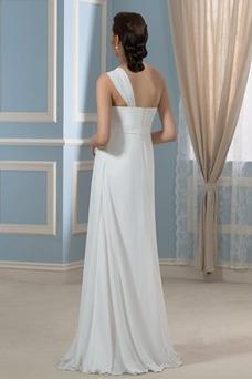 Robe de mariée Plage Fourreau plissé Simple Mousseline Printemps Taille Empire