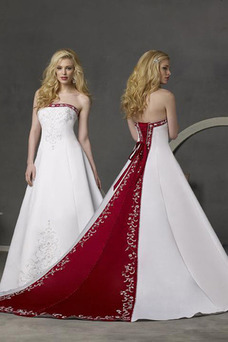 Robe de mariée Longueur ras du Sol Lacet Foisonné Bustier Satin Salle