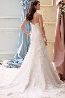 Robe de mariée Vintage Sans Manches Appliques Taille Naturel Printemps