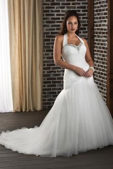 Robe de mariée Sirène Formelle Printemps Salle Cristal Taille Naturel